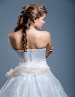 wedding hair styles braid on back picture