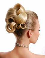 wedding hairstyles blonde updo picture
